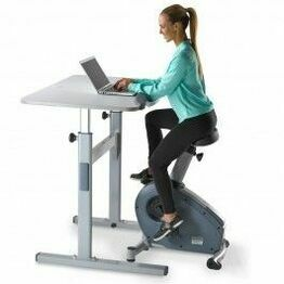 Lifespan Upright Bike + Manual Desk with C3-DT5