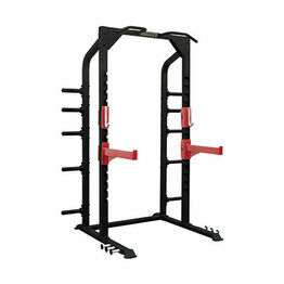 Commercial Plate Loaded Half Power Rack