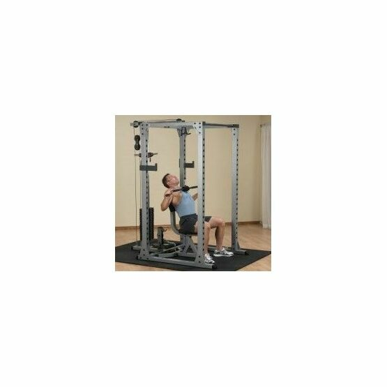 Body Solid Commercial Power Rack with Optional Selectorized Lat and Low Row attachment